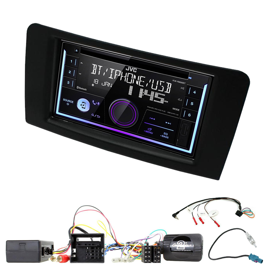 Kit d\'intégration Mercedes ML de 2005 à 2011 + Autoradio multimédia USB/Bluetooth
