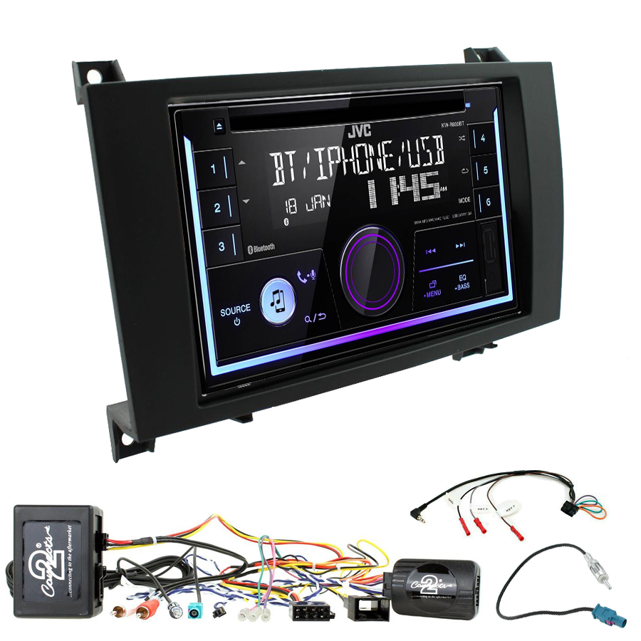 Kit d\'intégration Mercedes SLK de 03/2004 à 03/2011 + Autoradio multimédia USB/Bluetooth