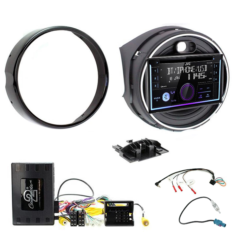Kit d\'intégration Mini Cooper F55/F56 de 2014 à 2018 + Autoradio multimédia USB/Bluetooth