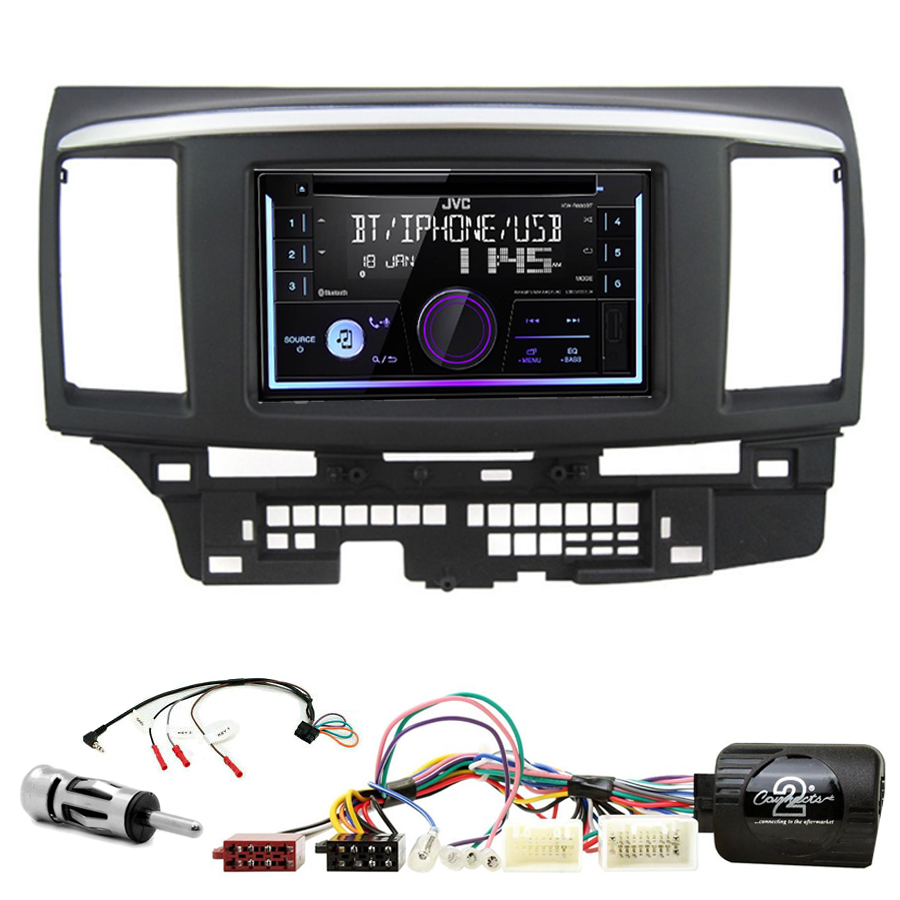 Kit d\'intégration Mitsubishi Lancer de 2008 à 2010 + Autoradio multimédia USB/Bluetooth