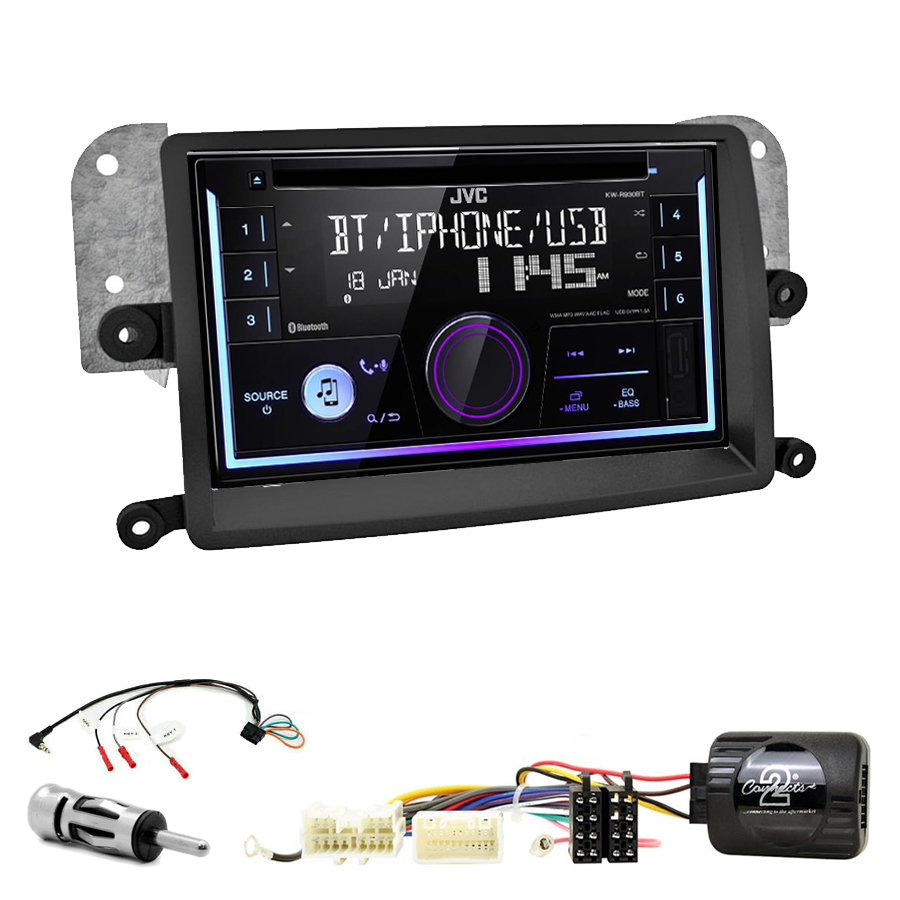 Kit d\'intégration Mitsubishi L200 de 03/2006 à 10/2015 + Autoradio multimédia USB/Bluetooth