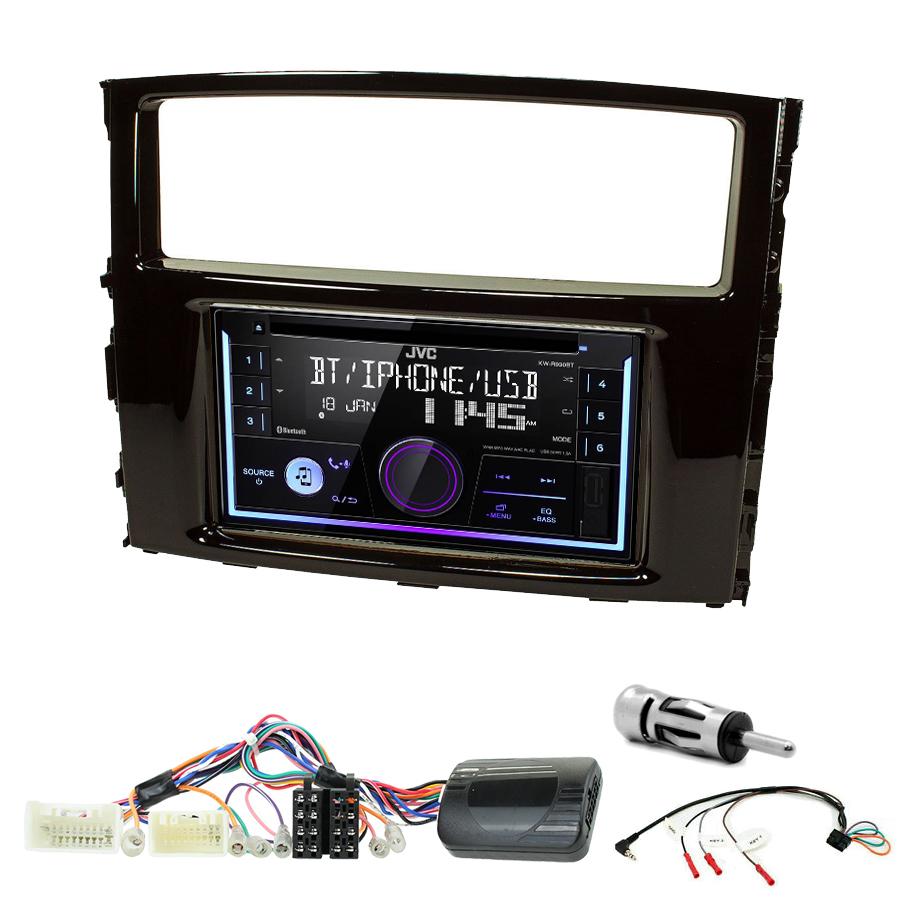 Kit d\'intégration Mitsubishi Pajero de 2006 à 2014 + Autoradio multimédia USB/Bluetooth