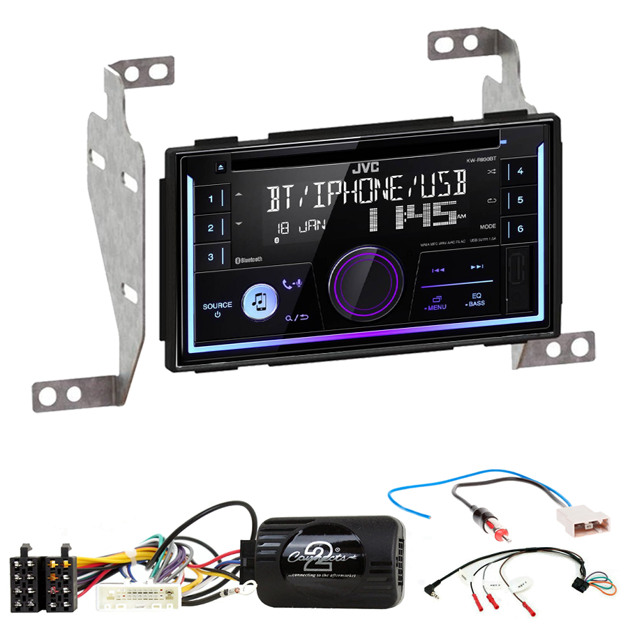 Kit d\'intégration Nissan Juke de 10/2010 à 05/2014 + Autoradio multimédia USB/Bluetooth