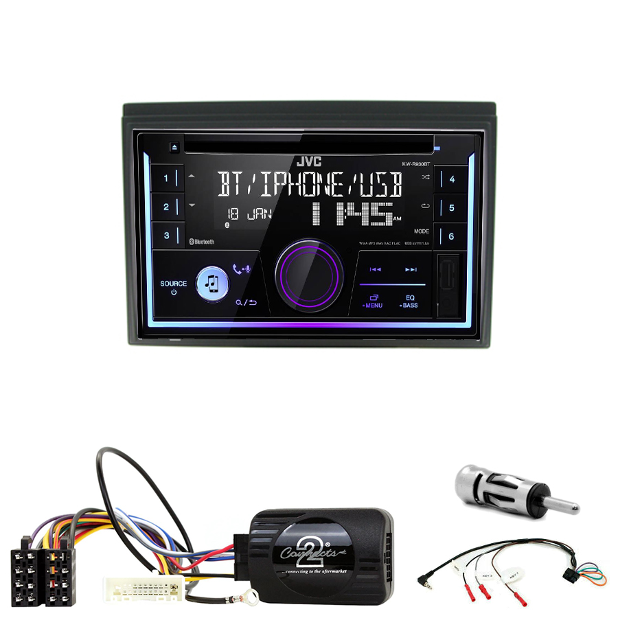Kit d\'intégration Nissan Micra de 2005 à 2011 + Autoradio multimédia USB/Bluetooth