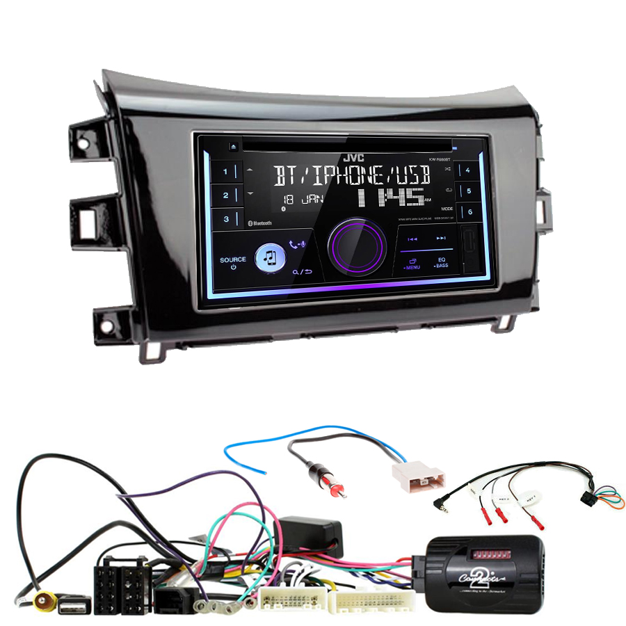Kit d\'intégration Nissan Navara et NP300 depuis 2015 + Autoradio multimédia USB/Bluetooth