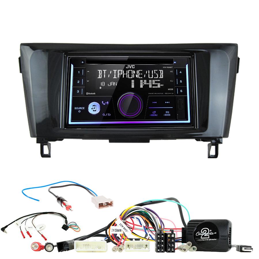 Kit d\'intégration Nissan Qashqai et X-Trail de 2014 à 2020 + Autoradio multimédia USB/Bluetooth