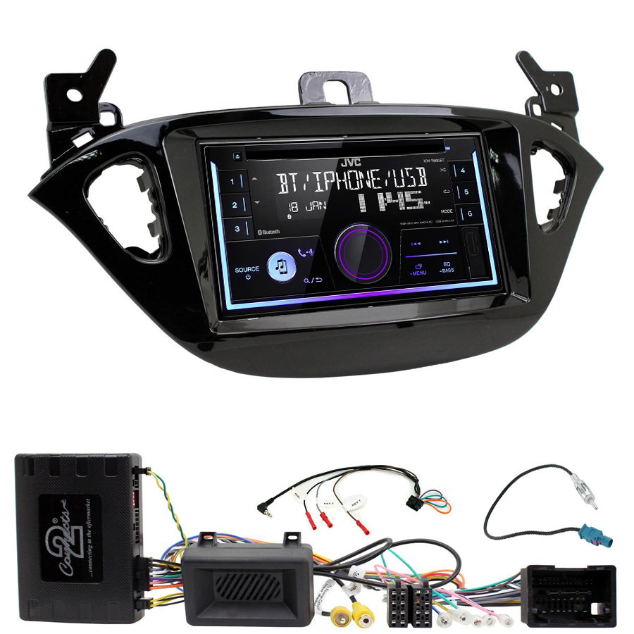 Kit d\'intégration Opel Adam et Corsa de 2013 à 2019 + Autoradio multimédia USB/Bluetooth