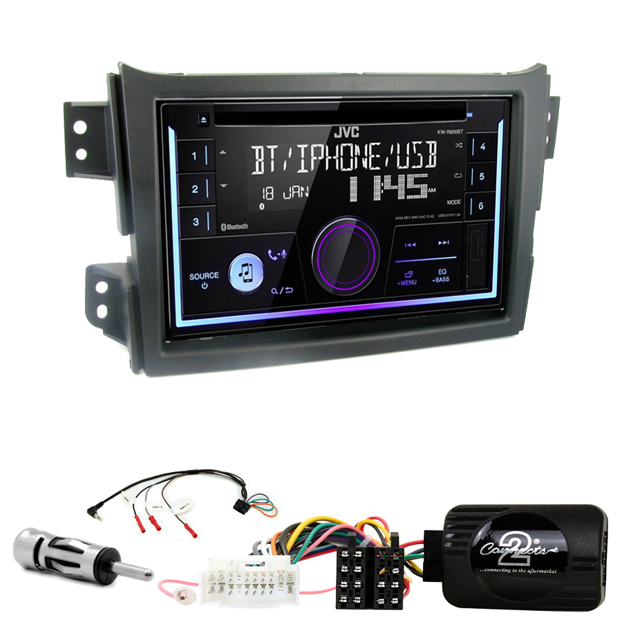 Kit d\'intégration Suzuki Splash de 2008 à 2015 + Autoradio multimédia USB/Bluetooth