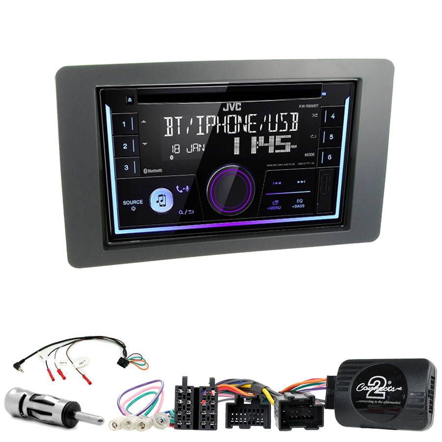 Kit d\'intégration Saab 9-5 de 2005 à 2009 + Autoradio multimédia USB/Bluetooth