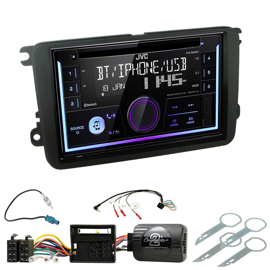 Kit d\'intégration Skoda Fabia, Yeti, Octavia, Roomster, Superb et Rapid + Autoradio multimédia USB/Bluetooth
