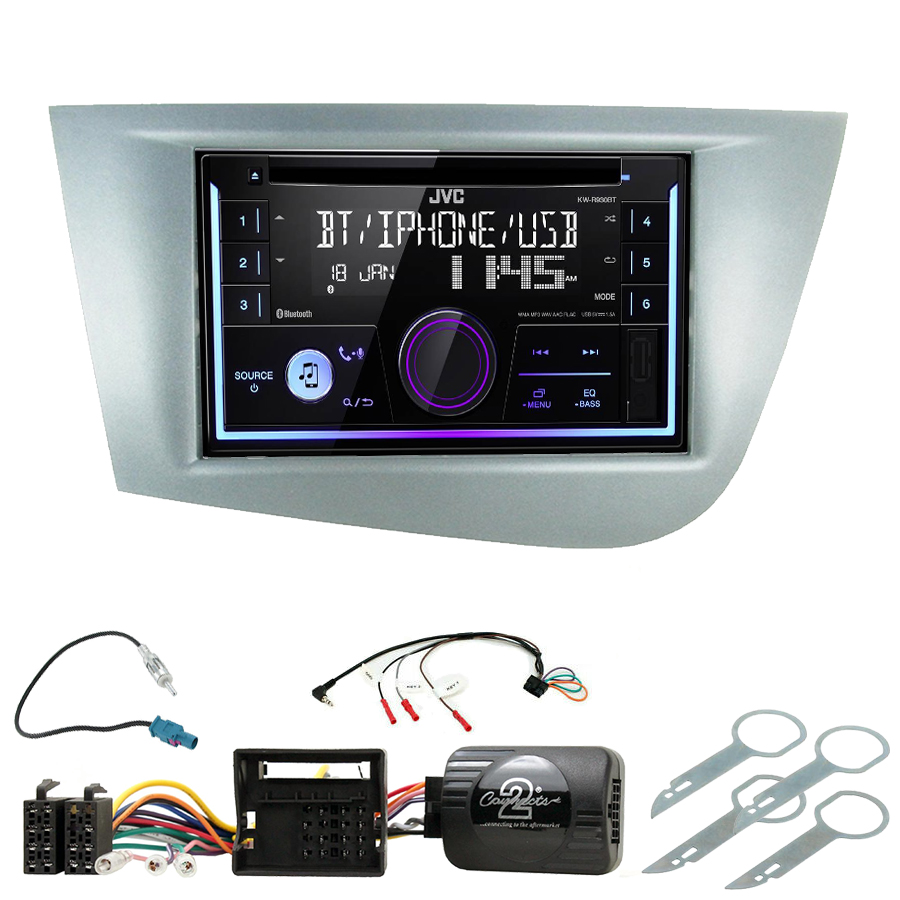 Kit d\'intégration Seat Leon de 09/2005 à 03/2009 + Autoradio multimédia USB/Bluetooth