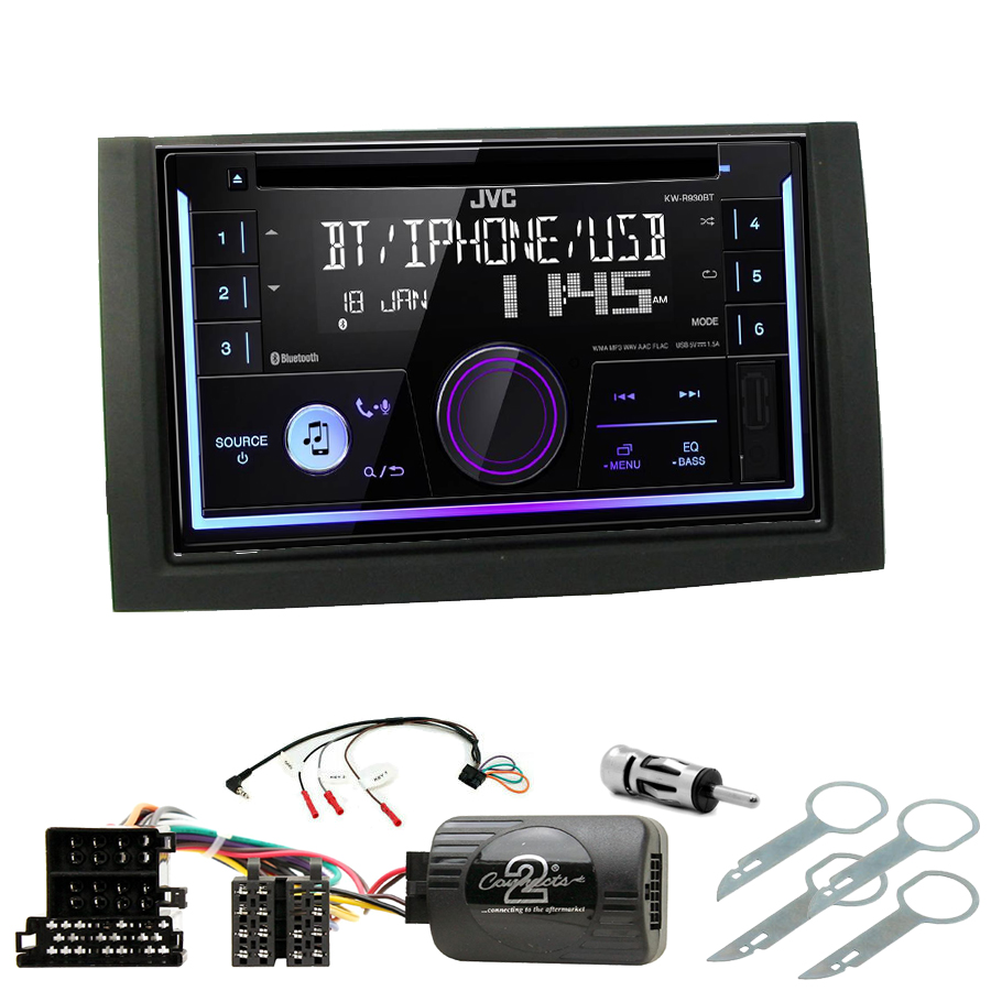 Kit d\'intégration Skoda Fabia de 08/2004 à 12/2007 + Autoradio multimédia USB/Bluetooth