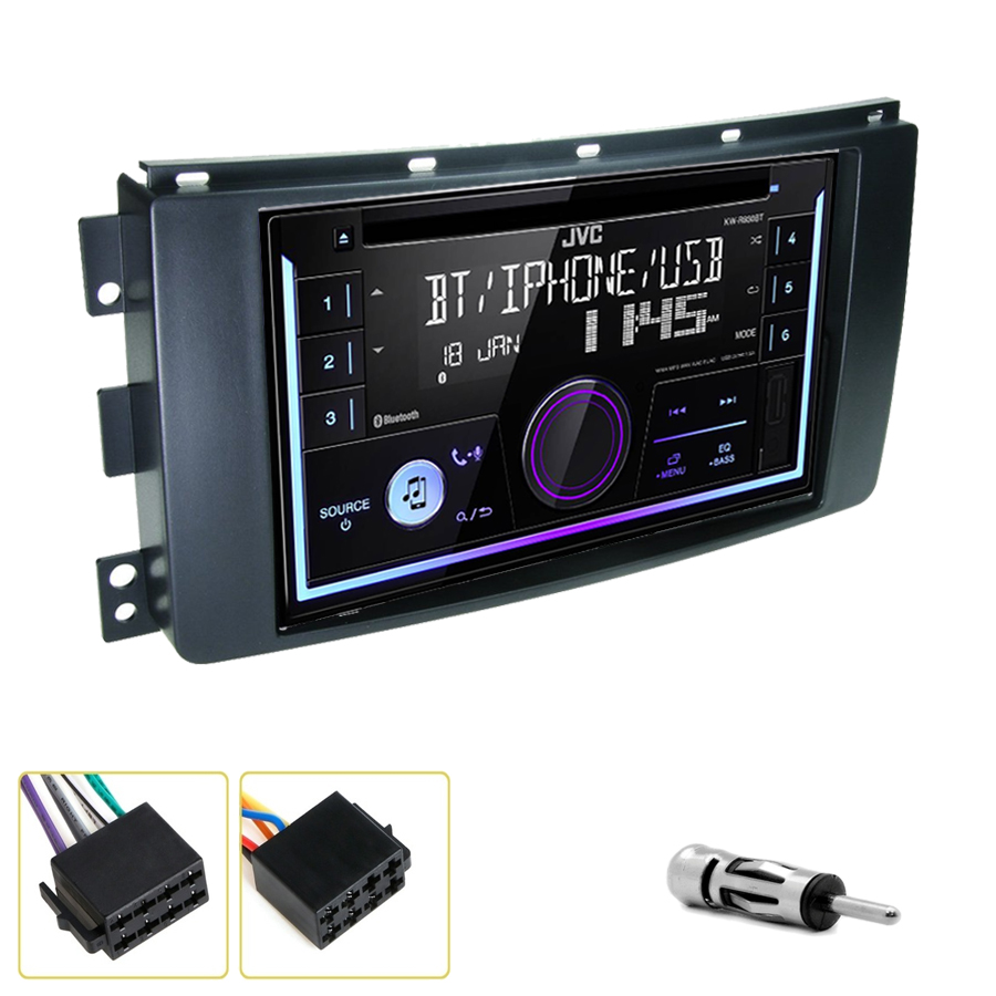 Kit d\'intégration Smart Fortwo de 2007 à 2010 + Autoradio multimédia USB/Bluetooth