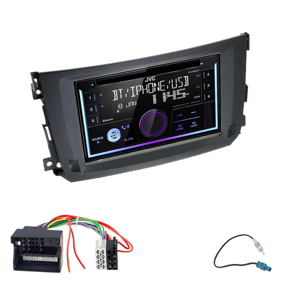 Kit d\'intégration Smart Fortwo de 2010 à 2015 + Autoradio multimédia USB/Bluetooth