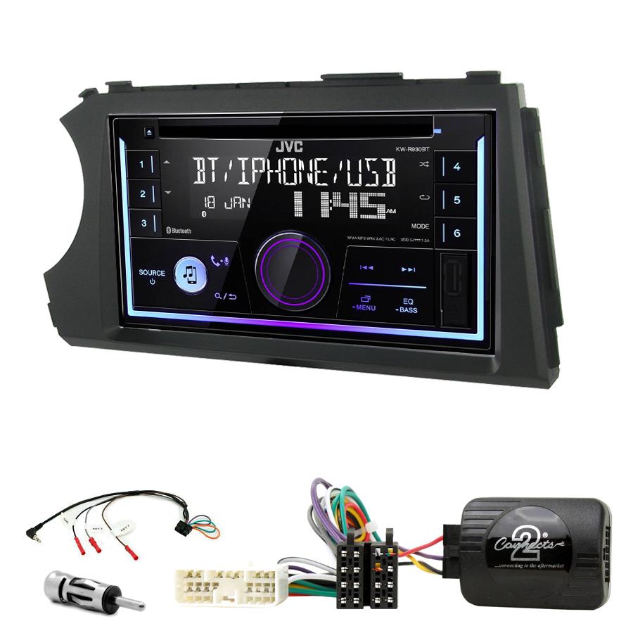 Kit d\'intégration Ssangyong Kyron et Actyon de 2006 à 2012 + Autoradio multimédia USB/Bluetooth