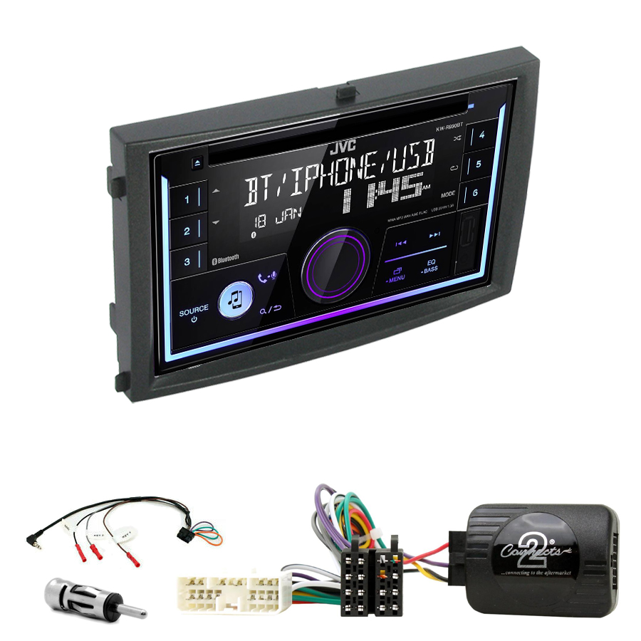 Kit d\'intégration Ssangyong Rexton de 2006 à 2012 + Autoradio multimédia USB/Bluetooth