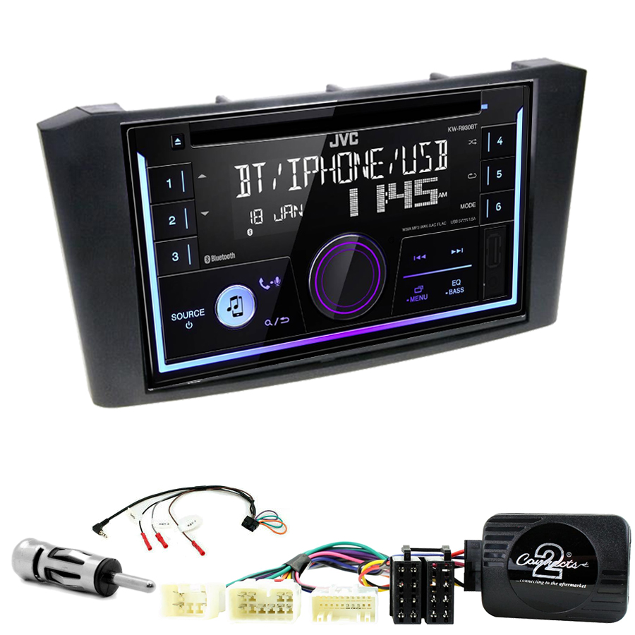 Kit d\'intégration Toyota Avensis de 2003 à 2008 + Autoradio multimédia USB/Bluetooth