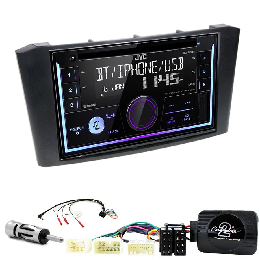 Kit d\'intégration Toyota Avensis de 2003 à 2008 + Autoradio multimédia USB/Bluetooth