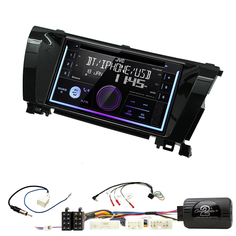 Kit d\'intégration Toyota Corolla de 2014 à 2018 + Autoradio multimédia USB/Bluetooth