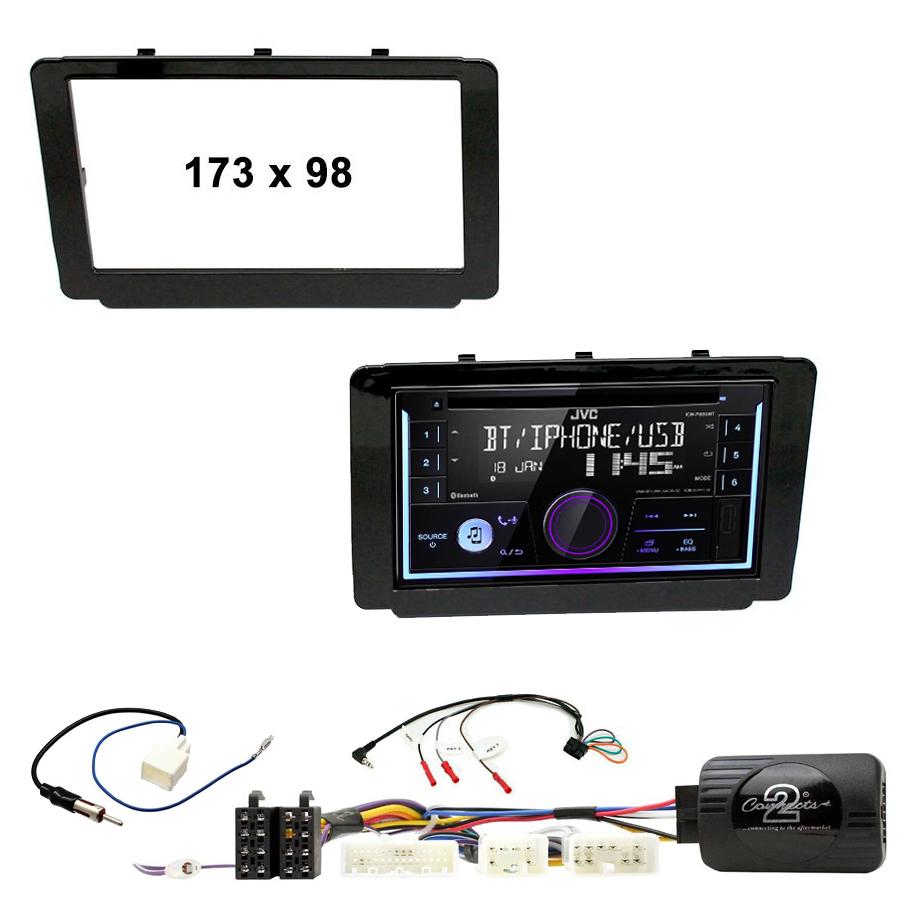 Kit d\'intégration Toyota Hilux depuis 2015 + Autoradio multimédia USB/Bluetooth