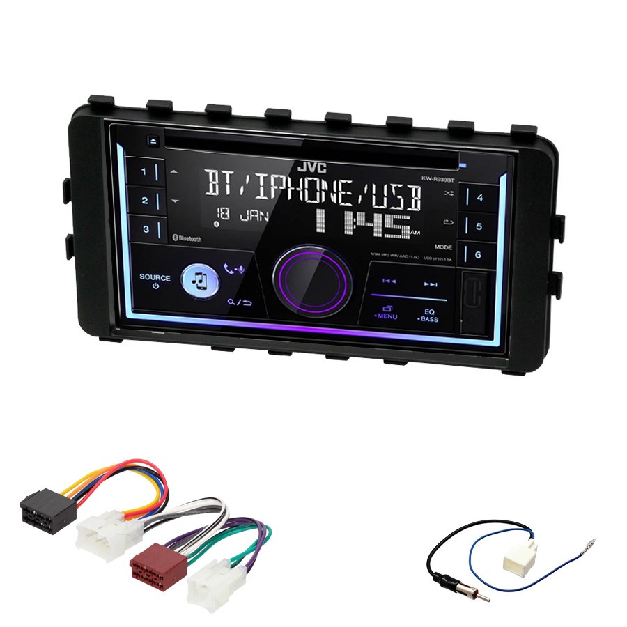 Kit d\'intégration Toyota IQ de 01/2009 à 2016 + Autoradio multimédia USB/Bluetooth