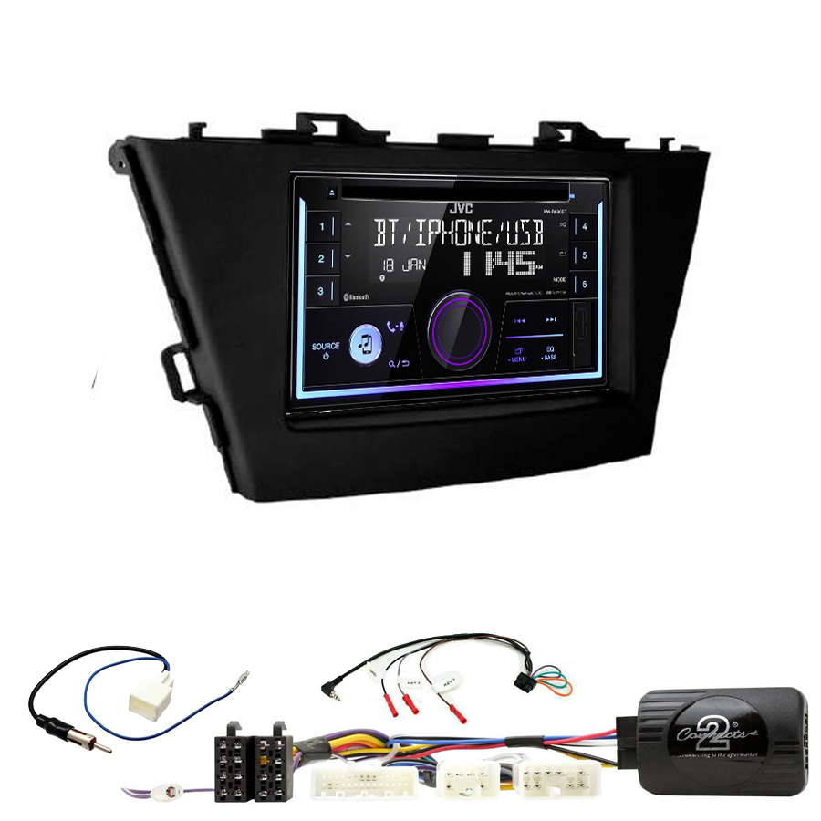 Kit d\'intégration Toyota Prius de 06/2012 à 2015 + Autoradio multimédia USB/Bluetooth