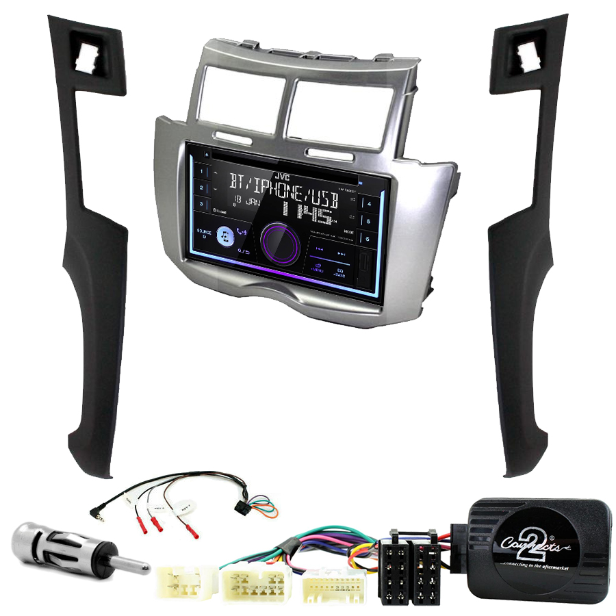 Kit d\'intégration Toyota Yaris de 2006 à 2011 + Autoradio multimédia USB/Bluetooth