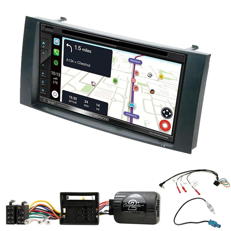 Kit d\'intégration Volkswagen Touareg, Multivan, Transporter et Caravelle de 2003 à 2010 + Autoradio tactile Navigation GPS