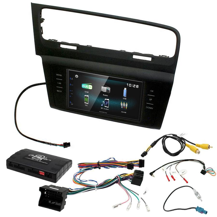 Kit d\'intégration Volkswagen Golf VII de 2013 à 2018 + Autoradio multimédia à écran tactile