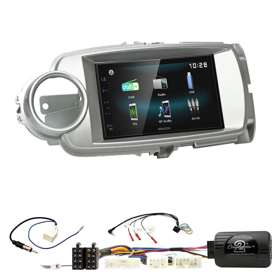 Kit d\'intégration Toyota Yaris de 10/2011 à 2018 + Autoradio multimédia à écran tactile