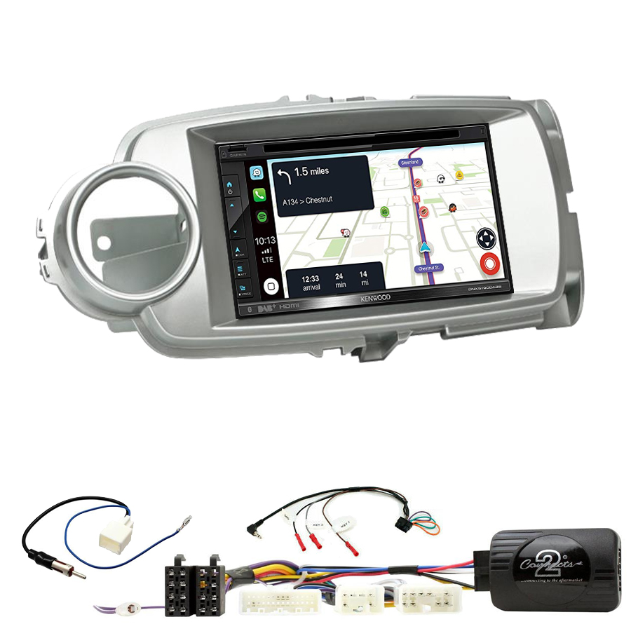 Kit d\'intégration Toyota Yaris de 10/2011 à 2018 + Autoradio tactile Navigation GPS