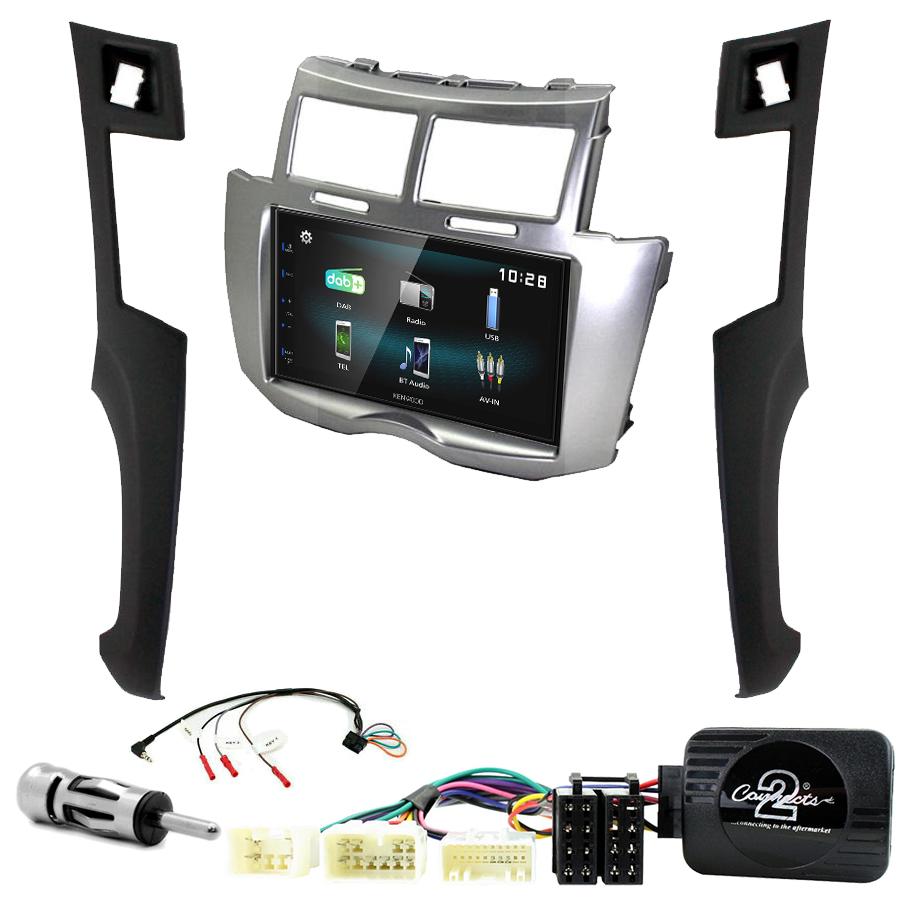 Kit d\'intégration Toyota Yaris de 2006 à 2011 + Autoradio multimédia à écran tactile