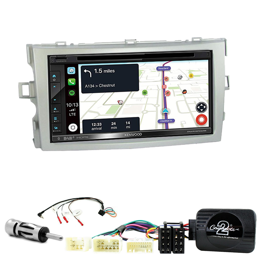 Kit d\'intégration Toyota Verso de 2009 à 2017 + Autoradio tactile Navigation GPS