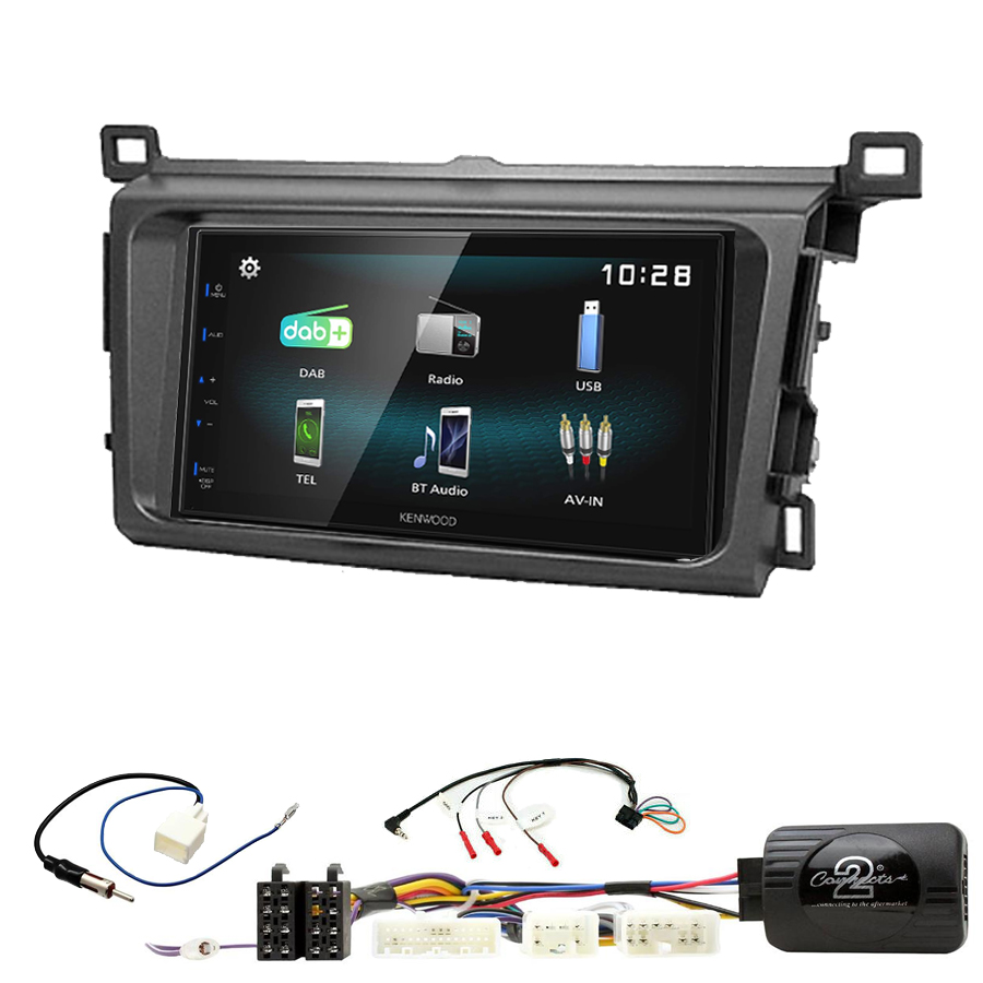 Kit d\'intégration Toyota RAV4 de 2013 à 2018 + Autoradio multimédia à écran tactile