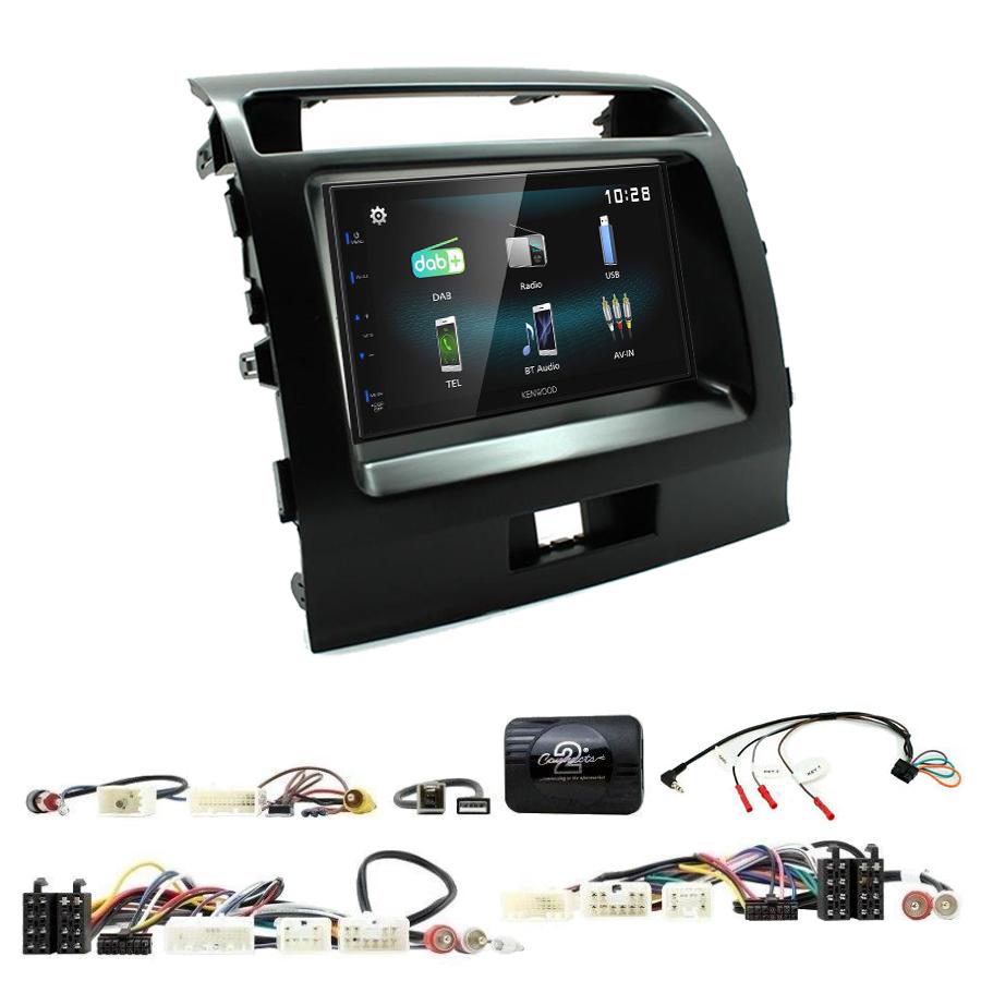 Kit d\'intégration Toyota Land Cruiser de 2008 à 2015 + Autoradio multimédia à écran tactile