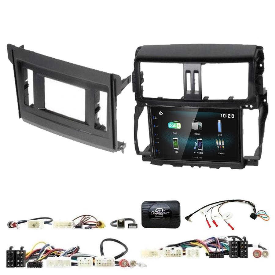Kit d\'intégration Toyota Land Cruiser de 2010 à 2017 + Autoradio multimédia à écran tactile