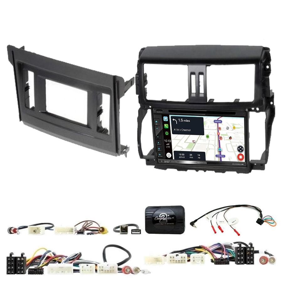 Kit d\'intégration Toyota Land Cruiser de 2010 à 2017 + Autoradio tactile Navigation GPS