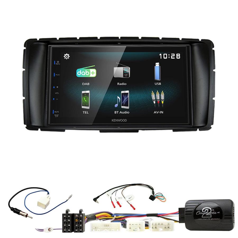 Kit d\'intégration Toyota Hilux de 2012 à 2015 + Autoradio multimédia à écran tactile