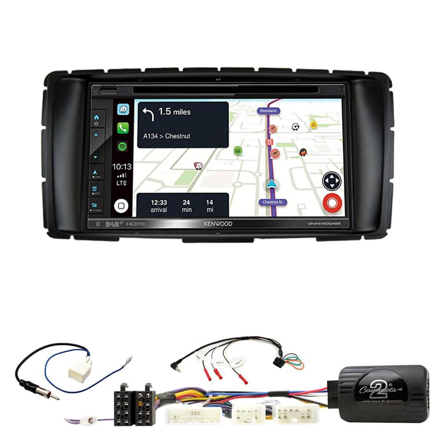 Kit d\'intégration Toyota Hilux de 2012 à 2015 + Autoradio tactile Navigation GPS