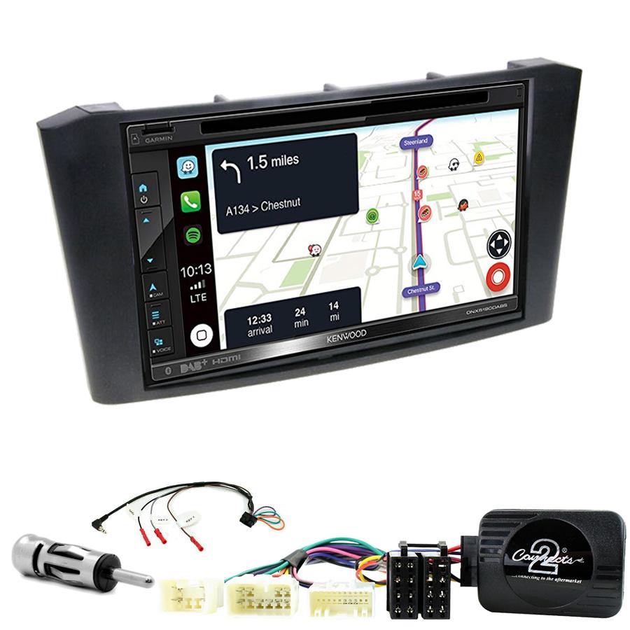 Kit d\'intégration Toyota Avensis de 2003 à 2008 + Autoradio tactile Navigation GPS