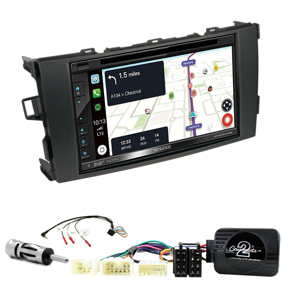 Kit d\'intégration Toyota Auris de 2007 à 2012 + Autoradio tactile Navigation GPS