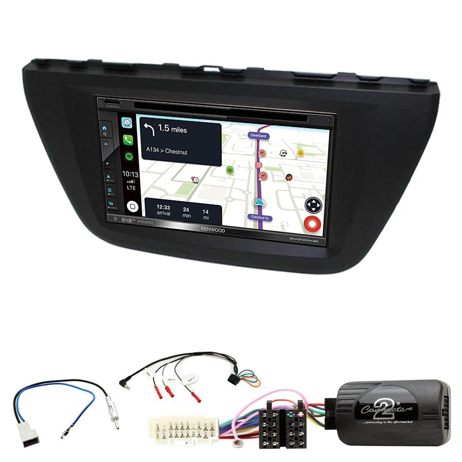 Kit d\'intégration Suzuki SX4 S-Cross depuis 2013 + Autoradio tactile Navigation GPS