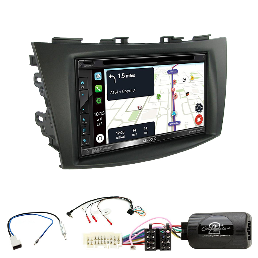 Kit d\'intégration Suzuki Swift de 09/2010 à 2017 + Autoradio tactile Navigation GPS