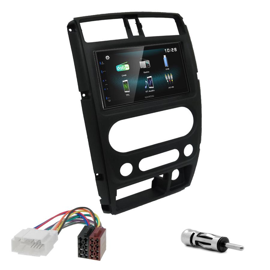 Kit d\'intégration Suzuki Jimny de 2008 à 2019 + Autoradio multimédia à écran tactile