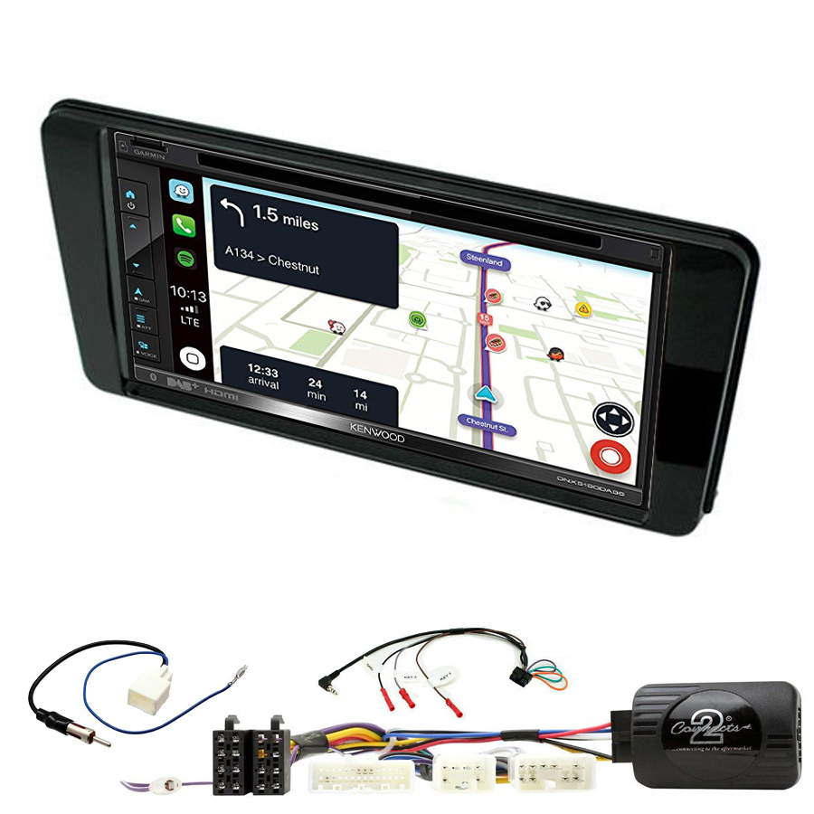 Kit d\'intégration Subaru BRZ depuis 2017 + Autoradio tactile Navigation GPS