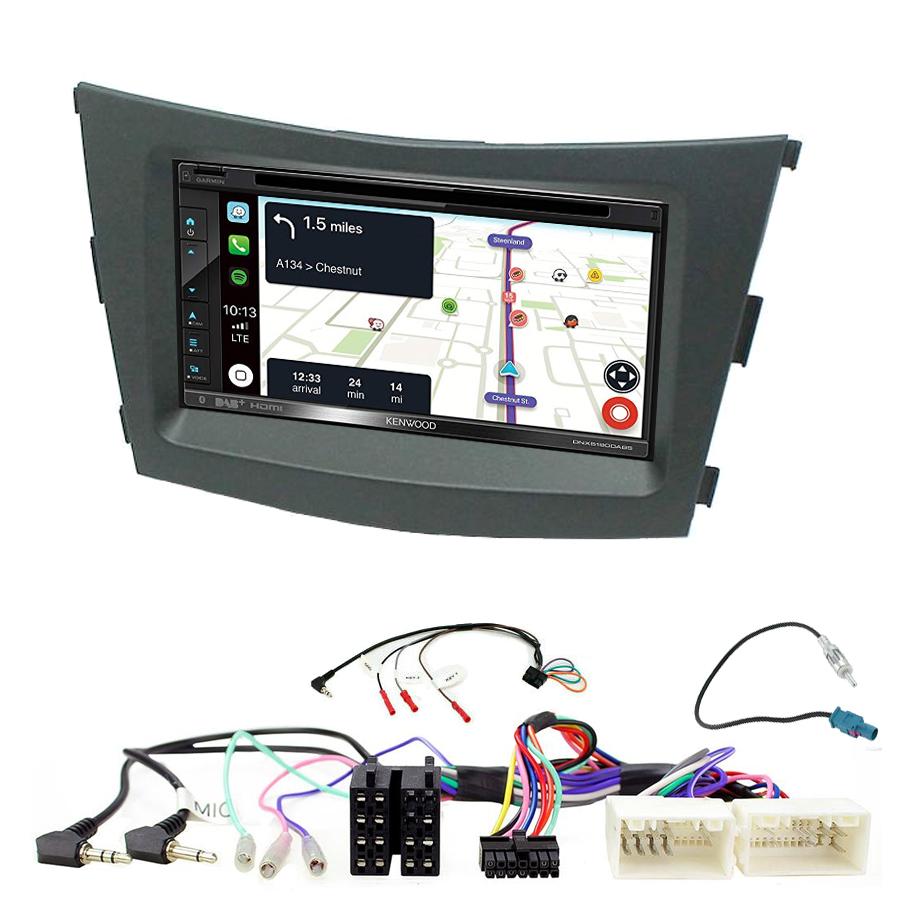 Kit d\'intégration Ssangyong Tivoli de 2015 à 2019 + Autoradio tactile Navigation GPS