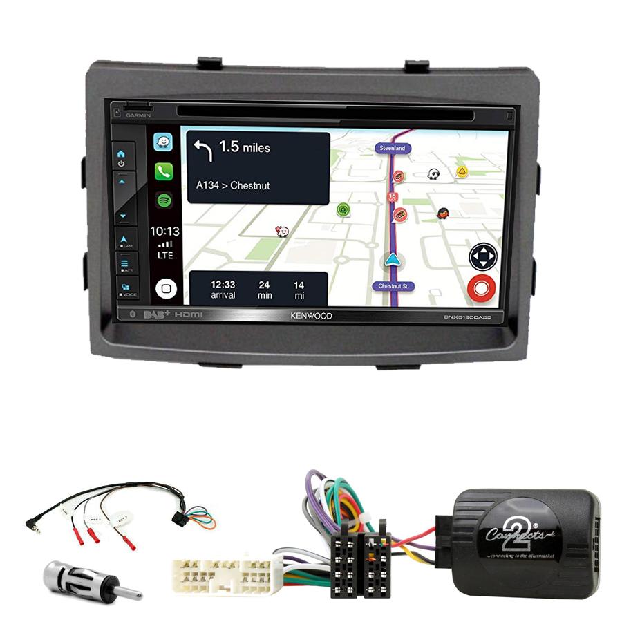 Kit d\'intégration Ssangyong Rodius depuis 2013 + Autoradio tactile Navigation GPS