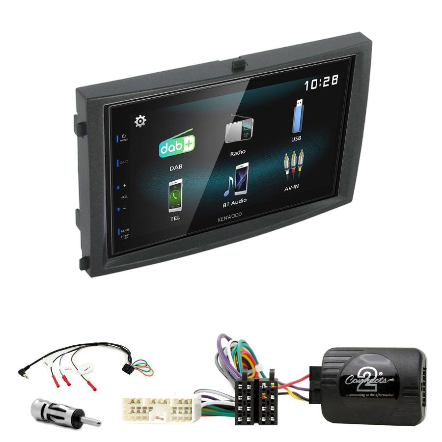 Kit d\'intégration Ssangyong Rexton de 2006 à 2012 + Autoradio multimédia à écran tactile