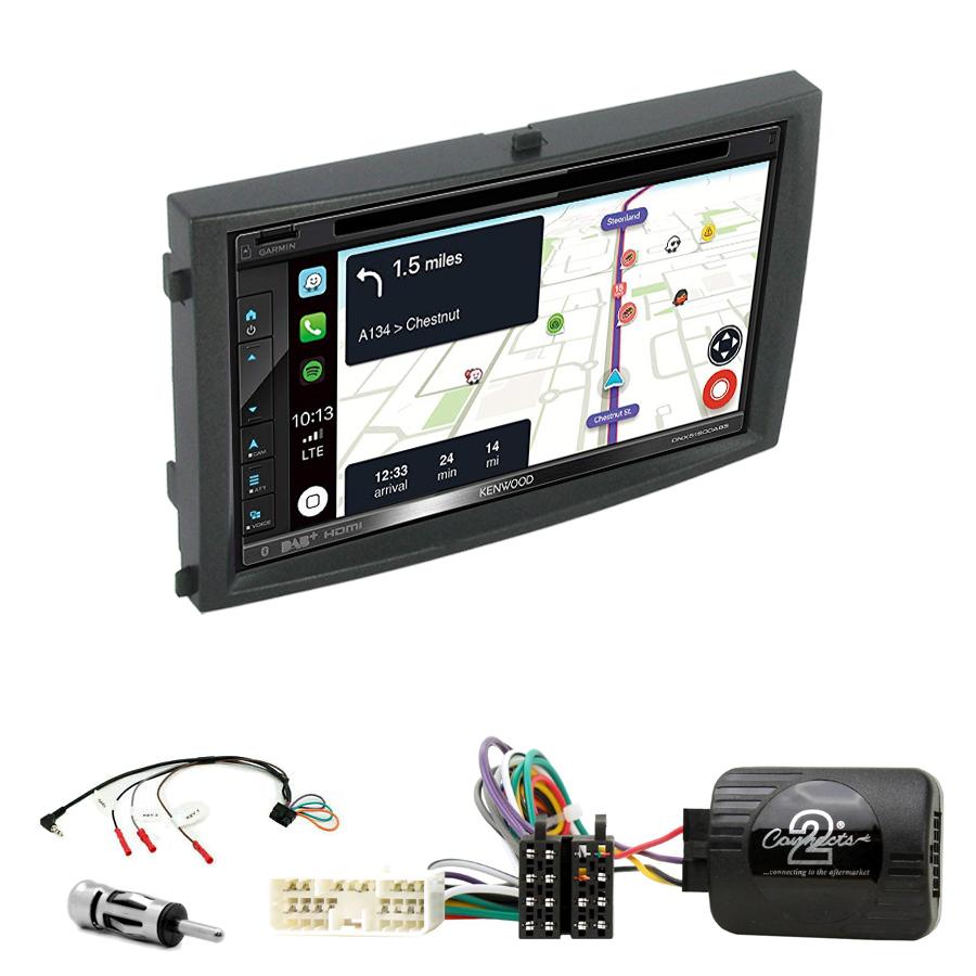 Kit d\'intégration Ssangyong Rexton de 2006 à 2012 + Autoradio tactile Navigation GPS