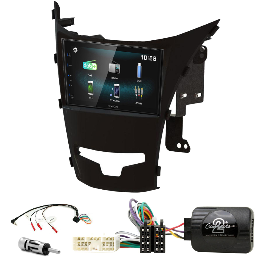 Kit d\'intégration Ssangyong Korando de 2014 à 2019 + Autoradio multimédia à écran tactile